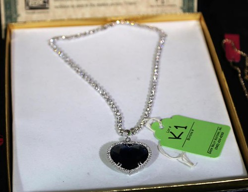 "J. Peterman Co. Titanic ""Heart of the Ocean"" replica necklace ($123.20)"