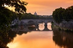 DSC_5505PS (roche.mandy) Tags: rome italie pont vatican saint pierre basilique coucher soleil sunset paysage landscape reflet photographie