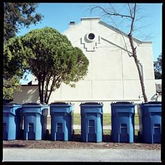 2019-10 H C R03 012 (kccornell) Tags: 120 film louisiana lafayette hasselblad 500c medium format color kodak 400 portra trash port rico gordon freetown garbage cans 6x6