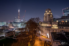 Frozen Moments (TVZ Photography) Tags: hdr highdynamicrange trinitysquare towerhill stkatharinedocks wapping centrallondon england shard walkietalkie tree park tower skyscraper architecture sunset city cityscape skyline night evening lowlight longexposure sonya7riii zeiss loxia 21mm