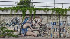Lily am Bahndamm (JB Fotofan) Tags: herakut fz1000 lumix badvilbel mural wallpainting wandbild graffiti