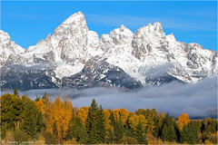 Teton Range (Sandra Lipproß) Tags: grandtetonnationalpark tetonrange wyoming usa rockymountains mountains snow fall autumn fallcolours fallfoliage landscape nature outdoor travel