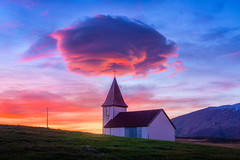 The Holy Church (albert dros) Tags: iceland church lenticular cloud sunset sky epic albertdros holy