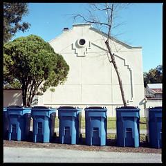 2019-10 H C R03 011 (kccornell) Tags: gordon freetown port rico trash cans garbage hasselblad lafayette louisiana 500c 120 medium format film color kodak portra 400 6x6