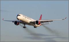 IMG_5476FL17 (Gerry McL) Tags: virgin atlantic airbus a350 a3501000 xwb jet airliner aircraft airplane goaround smoke trail gvprd glasgow scotland egpf gla