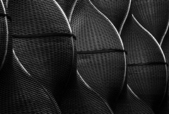 Basket Wall (HWHawerkamp) Tags: london uk architecture bw abstract shapes basket wall unitedkingdom greatbritain modern dark lowkey facade pattern
