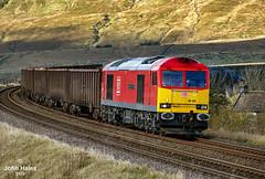 60100 at Ribblehead on 29 Oct 19 (John_Hales) Tags: ribblehead preston rail railway train trains settle carlisle class60 tug dbc dbcargo locomotive bleamoor networkrail cumbria gypsum