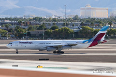 OO-SCW (320-ROC) Tags: eurowings ooscw airbusa340 airbusa340300 airbusa340313 airbus a340 a340300 a340313 a343 las klas lasvegasmccarranairport lasvegasinternationalairport lasvegasairport lasvegasmccarraninternationalairport lasvegas