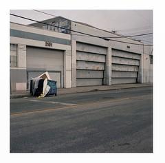 Garages (ADMurr) Tags: la eastside garage doorway sement hasselblad 500cm 50mm zeiss distagon fuji pro 400 120 square 6x6 dba294