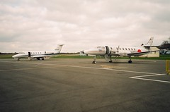 N606AT Cessna Citation 650 With D-CCCC Swearingen MerlinSA.227AT (Aircaft @ Gloucestershire Airport By James) Tags: gloucestershire airport n606at cessna citation 650 with dcccc swearingen merlinsa227at egbj james lloyds