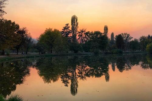 #Sunset at the #City #Park #Skopje #Macedonia