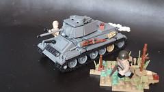 T34-76 m1943 (Fritz&FroggiesBrick) Tags: t34 tank lego t3476 76mm t34m1943 m1943 ww2 weapon war russian soviet redarmy red ostfront
