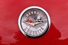 Something.red (•Nicolas•) Tags: chevrolet corvette classic car american yvelines france nicolasthomas m9 red color sign