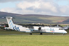 Flybe Dash8 Q400 G-ECOD at Isle of Man EGNS 29/10/19 (IOM Aviation Photography) Tags: flybe dash8 q400 gecod isle man egns 291019