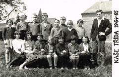 1964-65 National School - 4th Class (beranekp) Tags: czech suniperk výsluní people