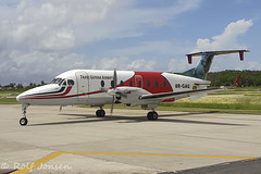 8R-GAQ Beechcraft 1900D Trans Guyana Airways Georgetown-Ogle Airport SYGO 23.10-19 (rjonsen) Tags: plane airplane aircraft aviation airliner ramp taxying airside