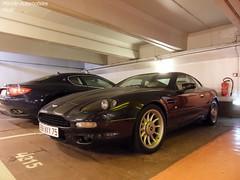 Aston Martin DB7 Coupé (Monde-Auto Passion Photos) Tags: voiture vehicule auto automobile cars astonmartin aston martin db7 coupé noir black sportive rare rareté parking sousterrain foch france paris