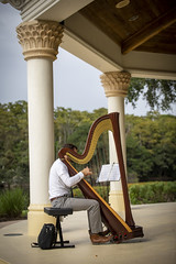 Harp player (dn8lane) Tags: harp building sitting architecture musician portrait outdoor person music people pluckedstringinstruments musicalinstrument travel konghou small one stringinstrument outdoors harpist table furniture recreation large flooring pillar white female classic standing