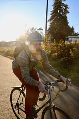 Burke Gilman Trail (Seattle Department of Transportation) Tags: sdot seattledepartmentoftransportation bike burkegilman sunny helmet backpack streetsign nikiseligman