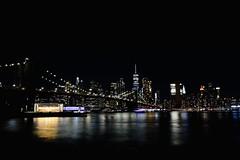 Brooklyn Bridge (jayclarke14) Tags: travel people boats cars water longexposure night architecture city bridge nyc brooklyn newyork