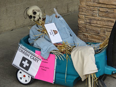 Bragg Creek, Scarecrow Days (annkelliott) Tags: alberta canada wofcalgary braggcreek scarecrowdays competition annual skeleton cart crashcart getyourflushotwalloutdoorfallautumn24 october 2019canonsx60canon sx60powershotannkelliottanne elliott© anne elliott 2019© all rights reserved