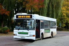Sorry not in service (Chris Baines) Tags: big green bus company alexander dennis dart plaxto pointer kx56 hcz haverhill station