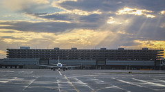 Melbourne Airport (Andy.Gocher) Tags: andygocher canon100d australia melbourne airport aircraft sunrays clouds runway