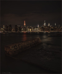 **LOW TIDE GEMS** (Rich Zoeller Photography) Tags: richzoeller zoeller thatkidrich nyc ny newyorkcity empirestatebuilding esb orange reflections graffiti lowtide sony night nightphotography landscape city chryslerbuilding eastriver river lights explore halloween gotham