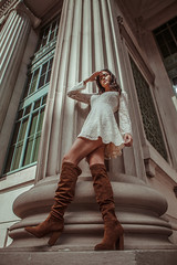 City Buildings (Erica Almquist) Tags: portrait fashion fashionmodel model cincinnati cincinnatimodel cincinnatiphotographer architecture buildings city innercity urban ohio people
