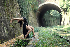 (dimitryroulland) Tags: nikon d750 85mm 18 dimitryroulland paris france natural light green nature dance dancer performer art artist petiteceinture black dress flexible flexibility