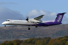 G-JECP Flybe De Havilland canada Dash 8-Q400 at Glasgow Abbotsinch Airport on 27 October 2019 (Zone 49 Photography) Tags: aircraft airliner aeroplane october 2019 glasgow scotland egpf gla abbotsinch airport bebee flybe de havilland canada dhc dash 8dash8 dehavillandcanadadash8q400 q400 gjecp