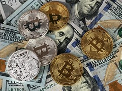 100 bank bank notes bitcoin - Credit to https://homegets.com/ (davidstewartgets) Tags: 100 bank notes banknotes bargain bitcoin blockchain cash change closeup coins commerce credit crypto cryptocurrency currency dollar economy finance financial investment market money number paper pay payment savings success wealth