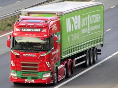 H B Holt & Sons, Scania, W2HBH On The A1M Southbound (Gary Chatterton 7 million Views) Tags: hbholtsons scaniatrucks w2hbh trucking wagon lorry haulage distribution logistics wrenkitchenstrailer transport motorway flickr canonpowershotsx430 photography
