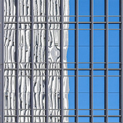 Reflection / Architecture / Windows (swampzoid) Tags: reflection divided two 2 architecture square cropped geometric correction perspective warp warped wavy even artful spark atlanta city urban urbanity urbane angles windows view abstract sky buildings modern modernity hamburgerhelper