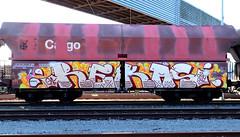 Graffiti on Freights (wojofoto) Tags: amsterdam nederland netherland holland graffiti streetart cargotrain vrachttrein güterzug freighttraingraffiti freighttrain fr8 freights wojofoto wolfgangjosten rekos