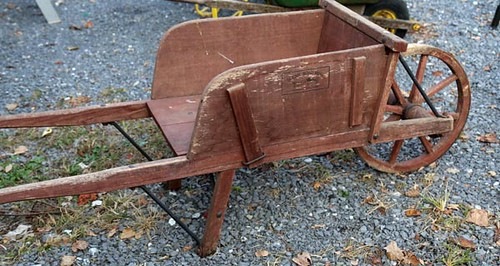 Antique Wooden Wheelbarrow ($100.80)