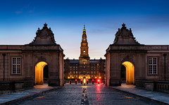 _DSC1536 - Christiansborg Slot (AlexDROP) Tags: 2019 denmark copenhagen europe travel architecture color cityscape city bluehour nikond750 tamronaf1735mmf284diosda037 best iconic famous mustsee picturesque postcard