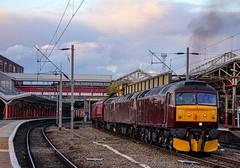 Evening empties (Matty JC) Tags: west coast rail class47 crewetrainstation crewe trains class33 diesel dieseltrains wcml