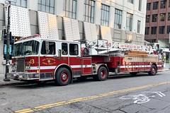 San Francisco Fire Department.  Truck 13. (RJACBclan) Tags: firetruck lti spartan truck13 sanfranciscofiredepartment
