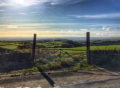 Gateway to Calderdale and beyond (Andreadm66) Tags: uk england landscape countryside gate hills gateway halifax iphone northowram calderdale autumn sunshine autumnal westyorkshire shibden shibdenvalley yorkshire