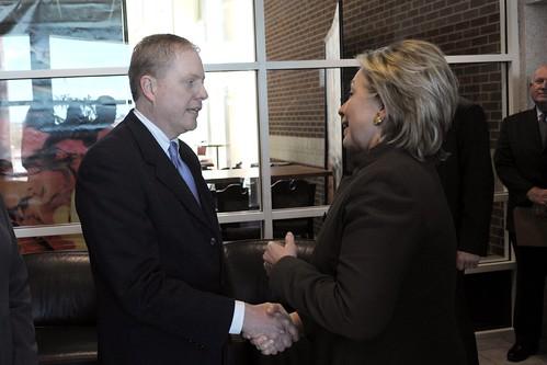 Dr. Gary Gregg and Secretary Clinton