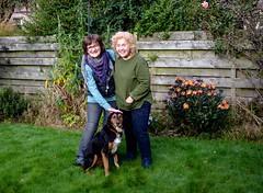 Cathy, Ally & Kiri 2 (allybeag) Tags: ally cathy inverness kiri dog garden