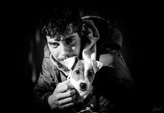 Petrus et B. (LACPIXEL) Tags: petrus chien dog perro pet animal mascota portrait retrato nikon nikonfr nikonfrance lumièrenaturelle naturallight luznatural noiretblanc blackwhite blancoynegro jackrussel chiot perrito puppy cachorro flickr lacpixel