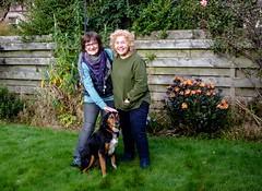 Ally, Cathy & Kiri 1 (allybeag) Tags: ally cathy inverness kiri dog garden