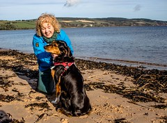 Cathy and Kiri 3 (allybeag) Tags: blackisle inverness cathy kiri dog beach