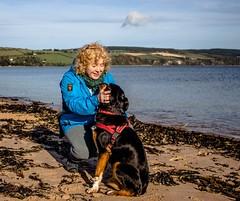 Cathy and Kiri 1 (allybeag) Tags: blackisle inverness cathy kiri dog beach