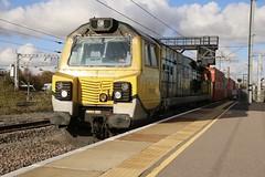 70002 Peterborough 29/10/2019 (Martin Coles) Tags: trains train rail railways railway peterborough 70002 class70 freightliner