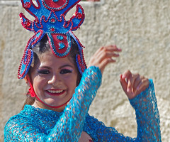 Joy. (cbrozek21) Tags: people girl joy portrait dance redblue costume carnival holiday mexico street