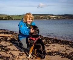 Cathy and Kiri 2 (allybeag) Tags: blackisle inverness cathy kiri dog beach