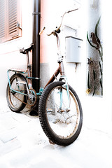 Special paint (Fé Oxidé) (vale0065) Tags: rust roest rusty roestig fiets bicycle yugoslavian joegoslavisch communisme communism slovenia slovenië ljubljana vehicle voertuig transport transportation